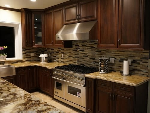 natural wall ideas doors dark cabinets good pictures walnut wooden wood cupboard bathroom with cabinet design u stained remodel vs kitchen