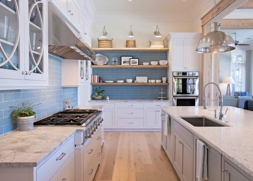Upper kitchen cabinets or open shelves for your kitchen - Kitchen designs without upper cabinets ...