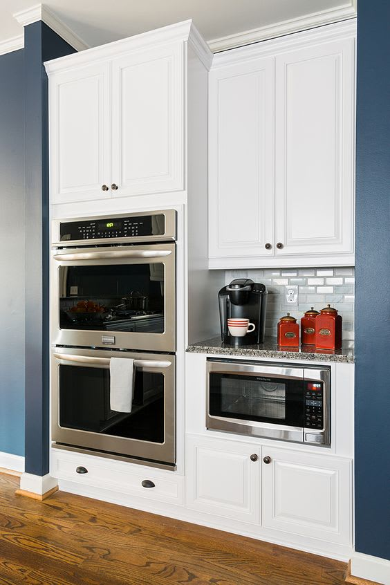 Making oven arrangements best online cabinets for Double oven and microwave cabinet