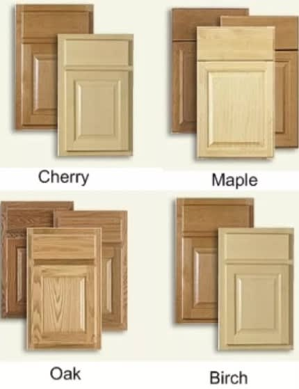 various wood options for kitchen cabinets