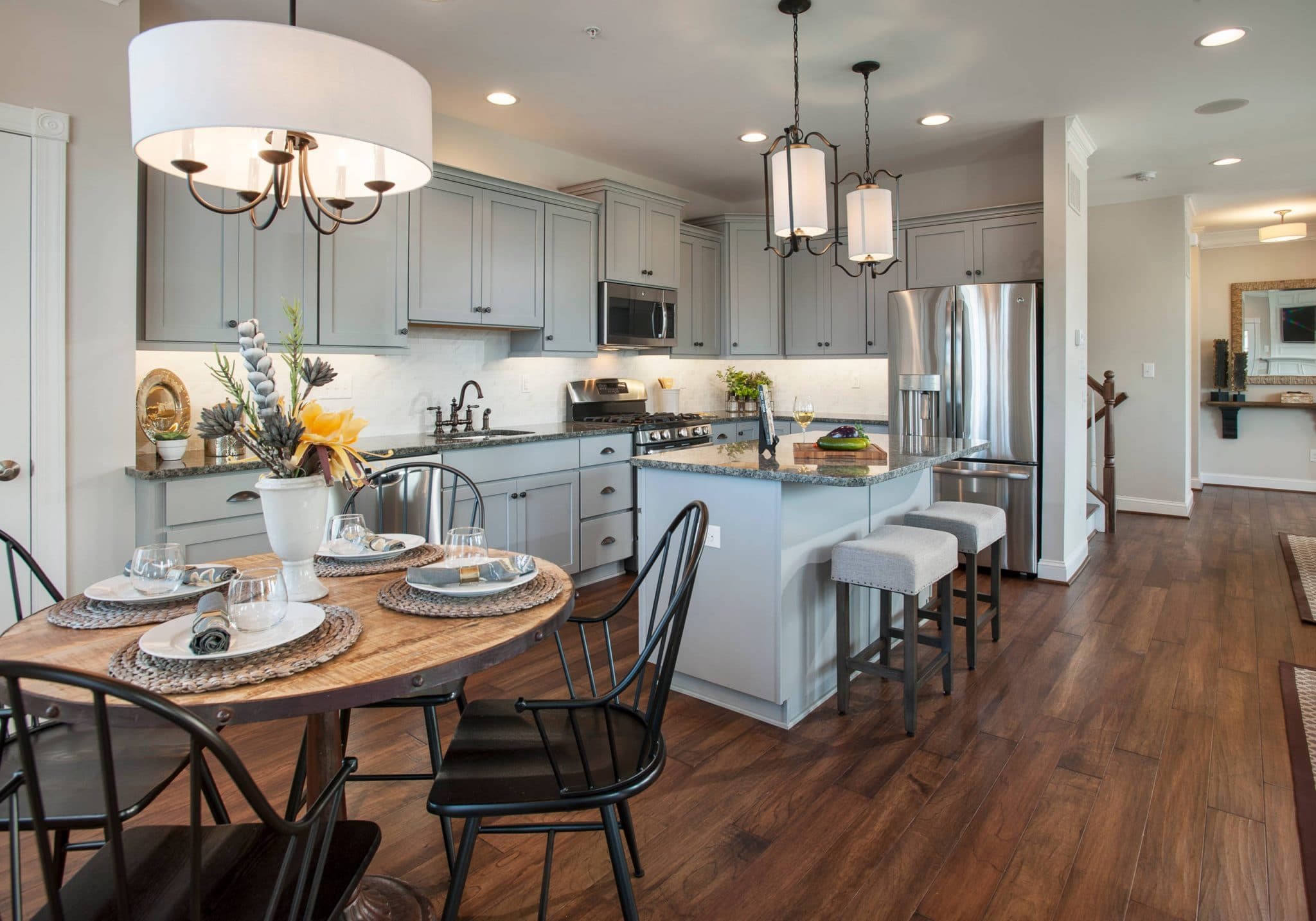 framed traditional american style kitchen