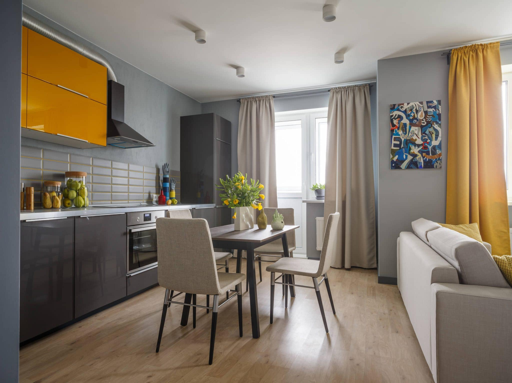 frameless european flat panel kitchen