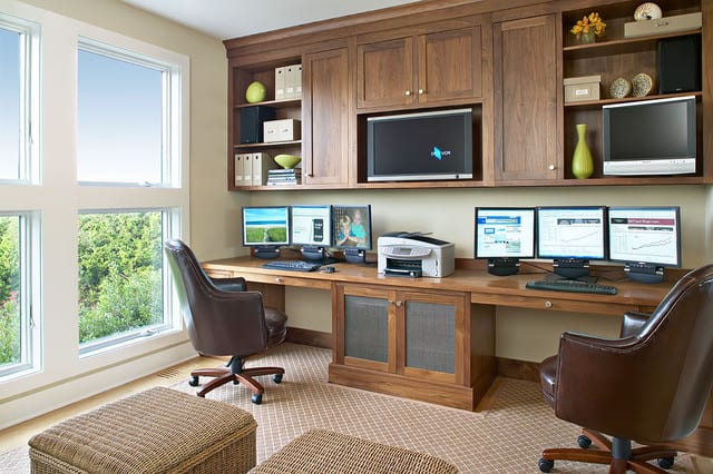 ... Home Office Design Beach Style Cabinets