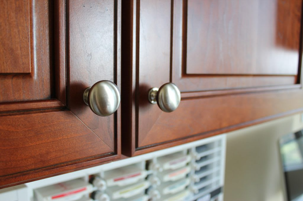 Knobs That Contrast To The Cabinet Color.] Cherry Wood ...