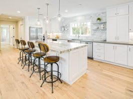white-shaker-kitchen-cabinets-island