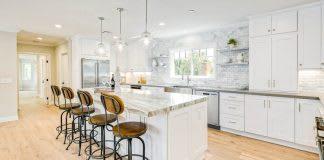 white-shaker-kitchen-cabinets-island