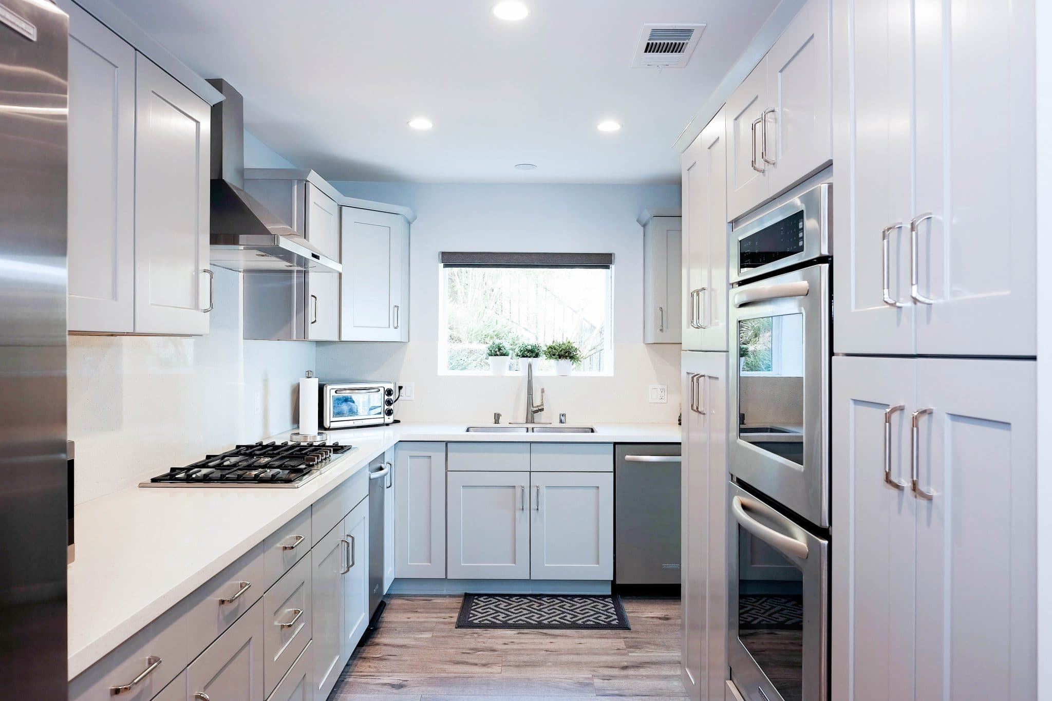 Warmth Neutrality Combined Gray Kitchen Cabinets Best