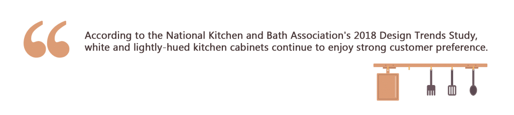 white kitchen cabinet idea NKBA quote