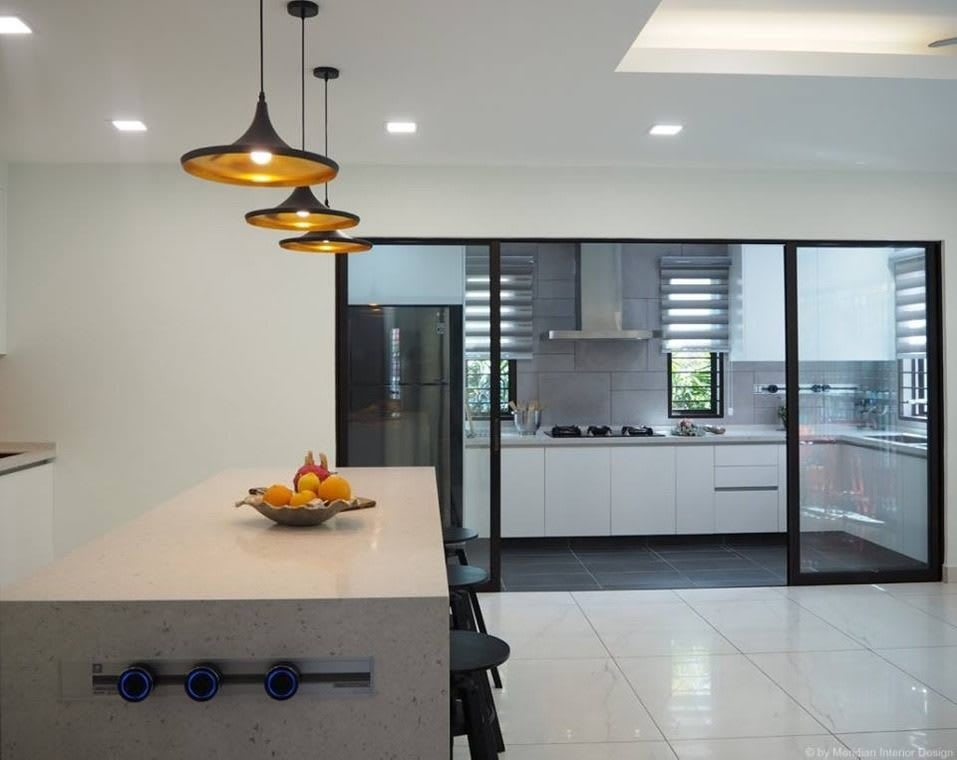 Modern White Kitchen for Double Storey Home in Subang Jaya Wet from recommend. Best Online Cabinets california