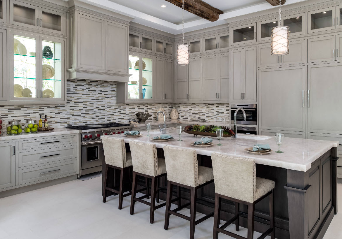 Transitional kitchen deconstruction best online cabinets - What is transitional style ...