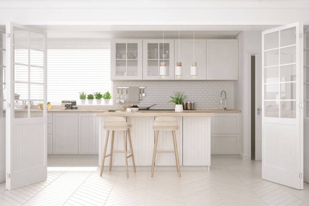 White Kitchen Cabinets - Make Kitchen Look Larger