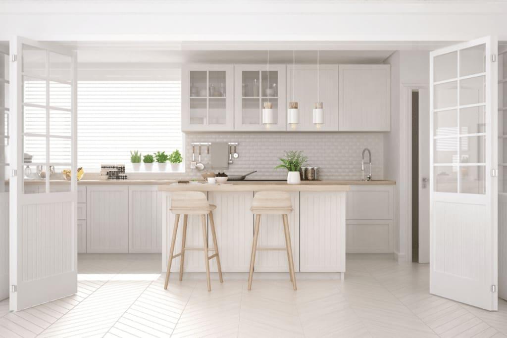 white popular shaker kitchen cabinets