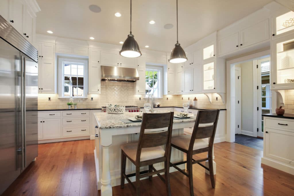 farmhouse white shaker kitchen