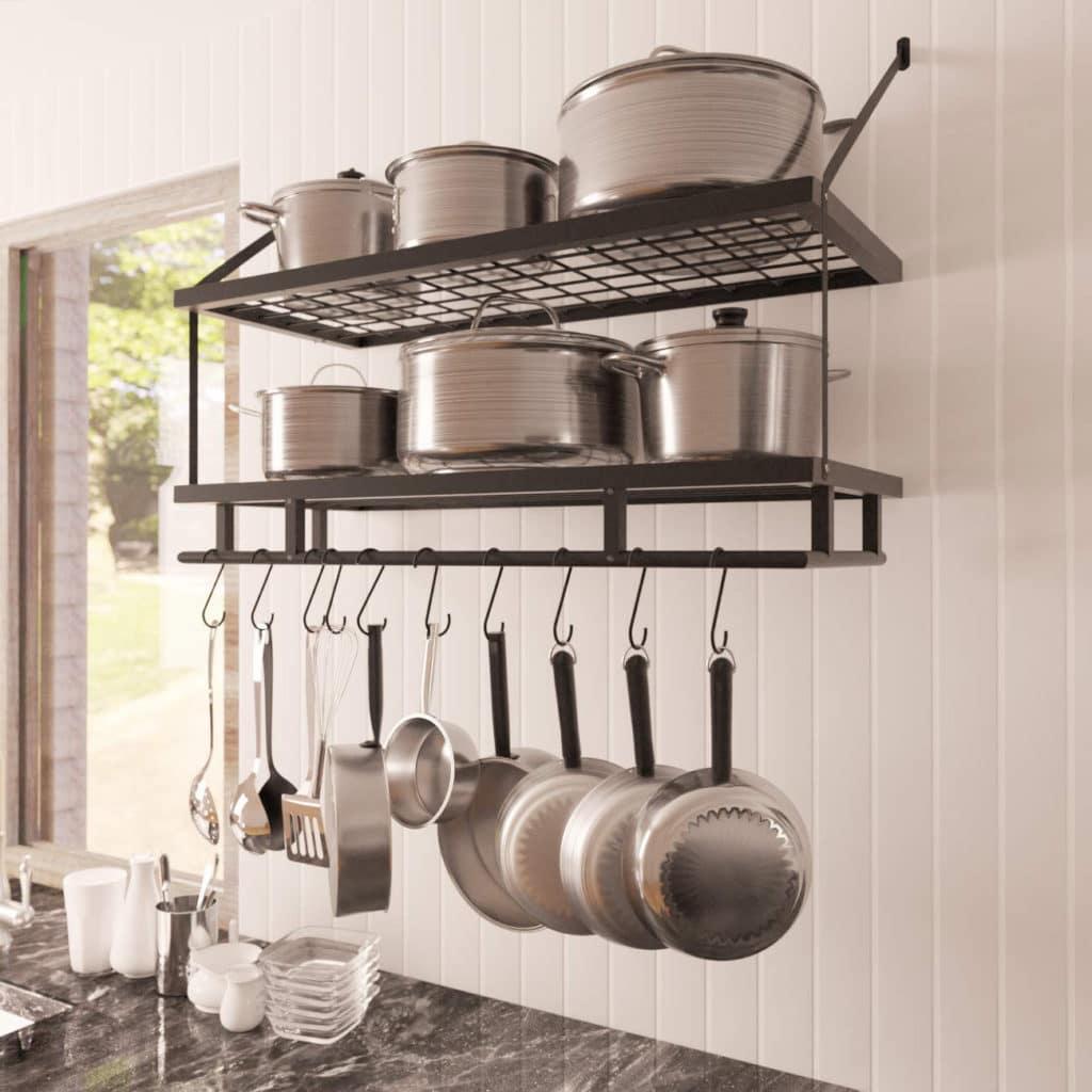 kitchen organization pot pan rack