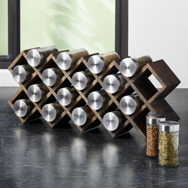 kitchen organization spice rack