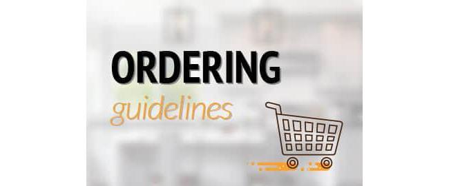 BOC Ordering Guidelines