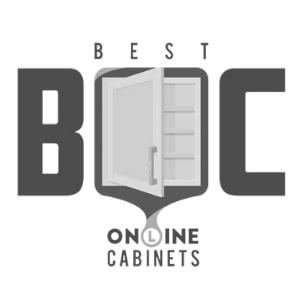 "Merlot Birch 9"" Base Open Shelf Cabinet on Left - Assembled"