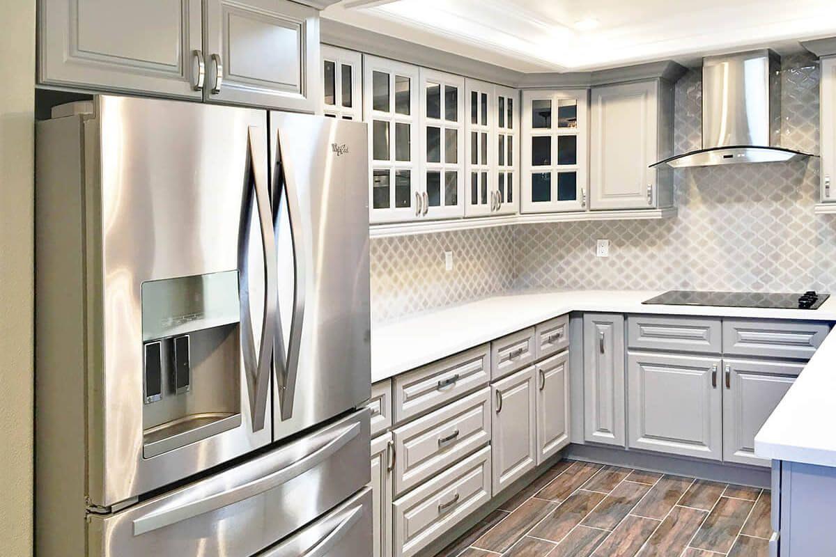 Anaheim Grey Pre Assembled Kitchen Cabinets