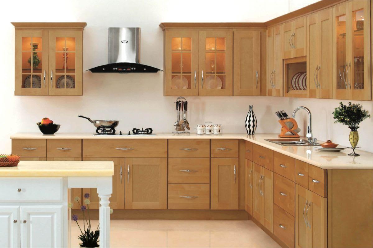 Honey Shaker Kitchen Cabinets : Natural Blonde Maple ...