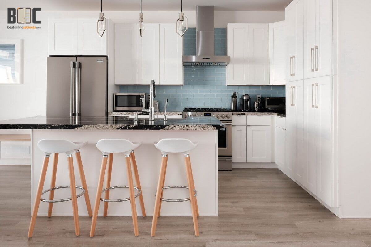 Malibu White Shaker Cabinets Top Quality Kitchen Cabinets