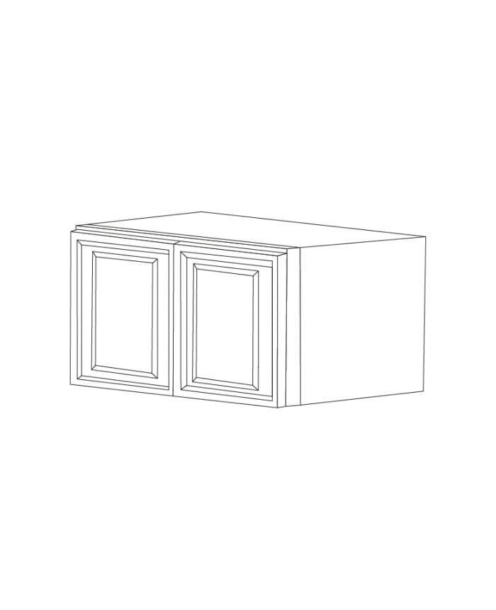 American Walnut 36x15x24 Wall Cabinet For 338 00