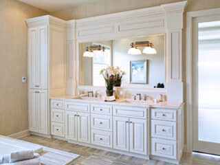 Design Ideas - Double Vanity with Linen Tower