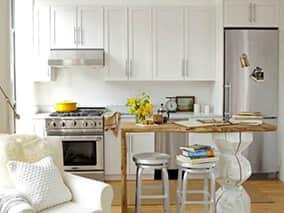 Design Ideas - Kitchen Island with Bookshelf
