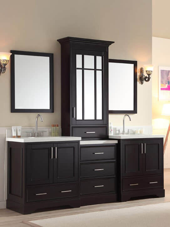 Design Idea - Double Vanity with Center Tower