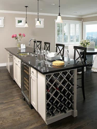 Design Idea - Kitchen Island with Wine Rack